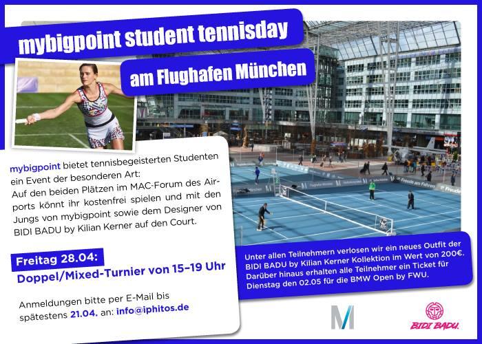 [lokal München] Kostenlose Tickets für die BMW Open 2017 (02.05.2017 - nur Studenten mit Tennis Affinität)