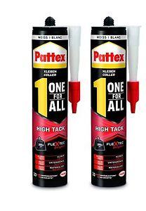 2er Pack Kraft-Kleber Pattex One for All High Tack 440g (weiß)