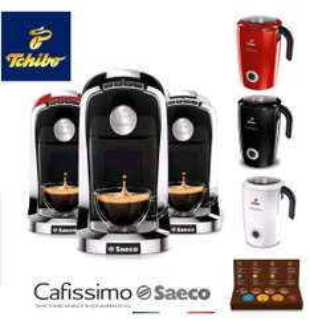 Tchibo Saeco Tuttocaffè + Induktionsmilchaufschäumer + Kapsel-Set (ebay favorio)