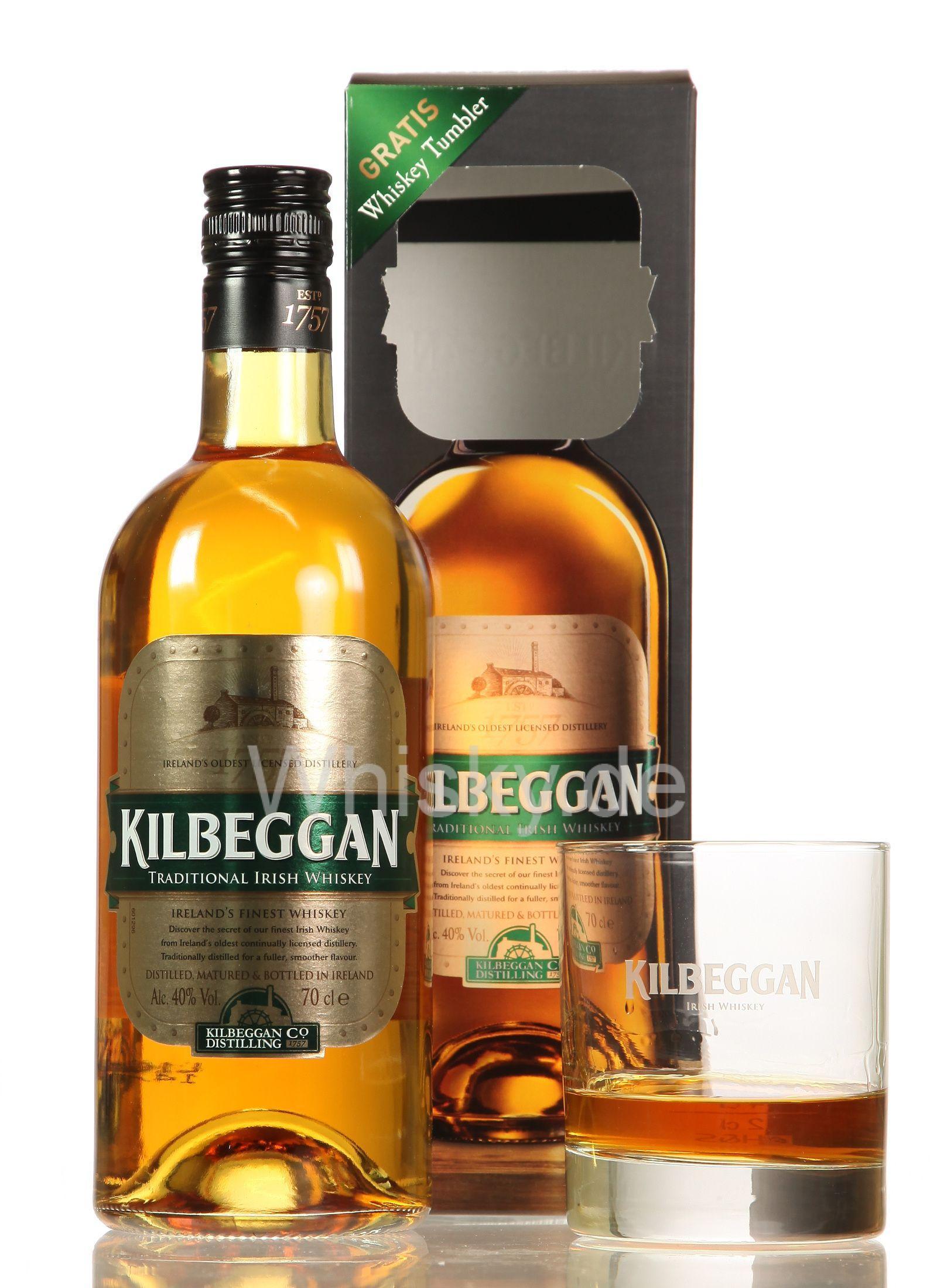 [Kaufland bundesweit] Kilbeggan Irish Whiskey 0,7L + Gratis Tumbler für 10,99€