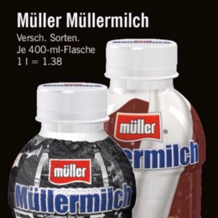 Lidl - Müller Milch versch. Sorten nur 0,55€