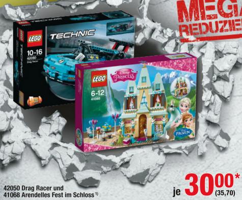 [Metro offline] Lego 42050 Drag Racer & Lego 41068 Arendelles Fest im Schloss für jeweils 35,70€