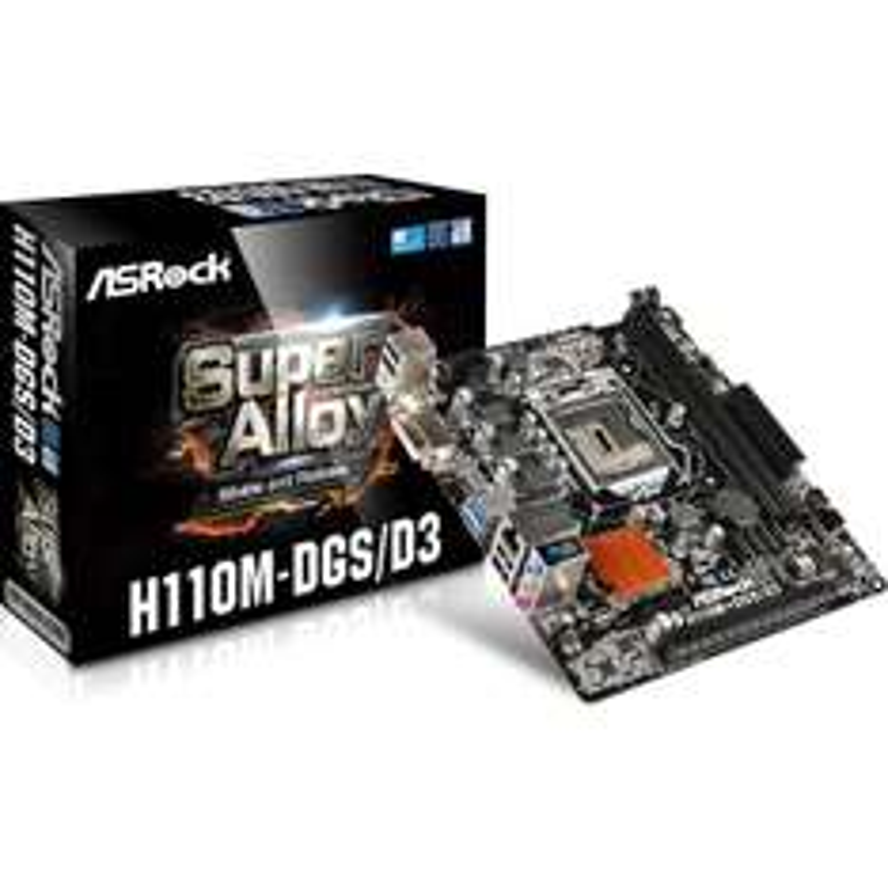 ASRock H110M-DGS/D3 Intel H110 So.1151 INTEL SKYLAKE für 29,00 im Mindstar