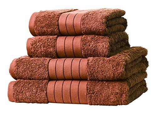 (amazon.de/Prime) Handtuch-Set (4) aus ägyptischer Baumwolle (Geschenk-Set)