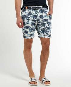 Herren Superdry International Shorts Blue Palm Print 16,95€ statt 69,95€ [@Superdryebaystore]