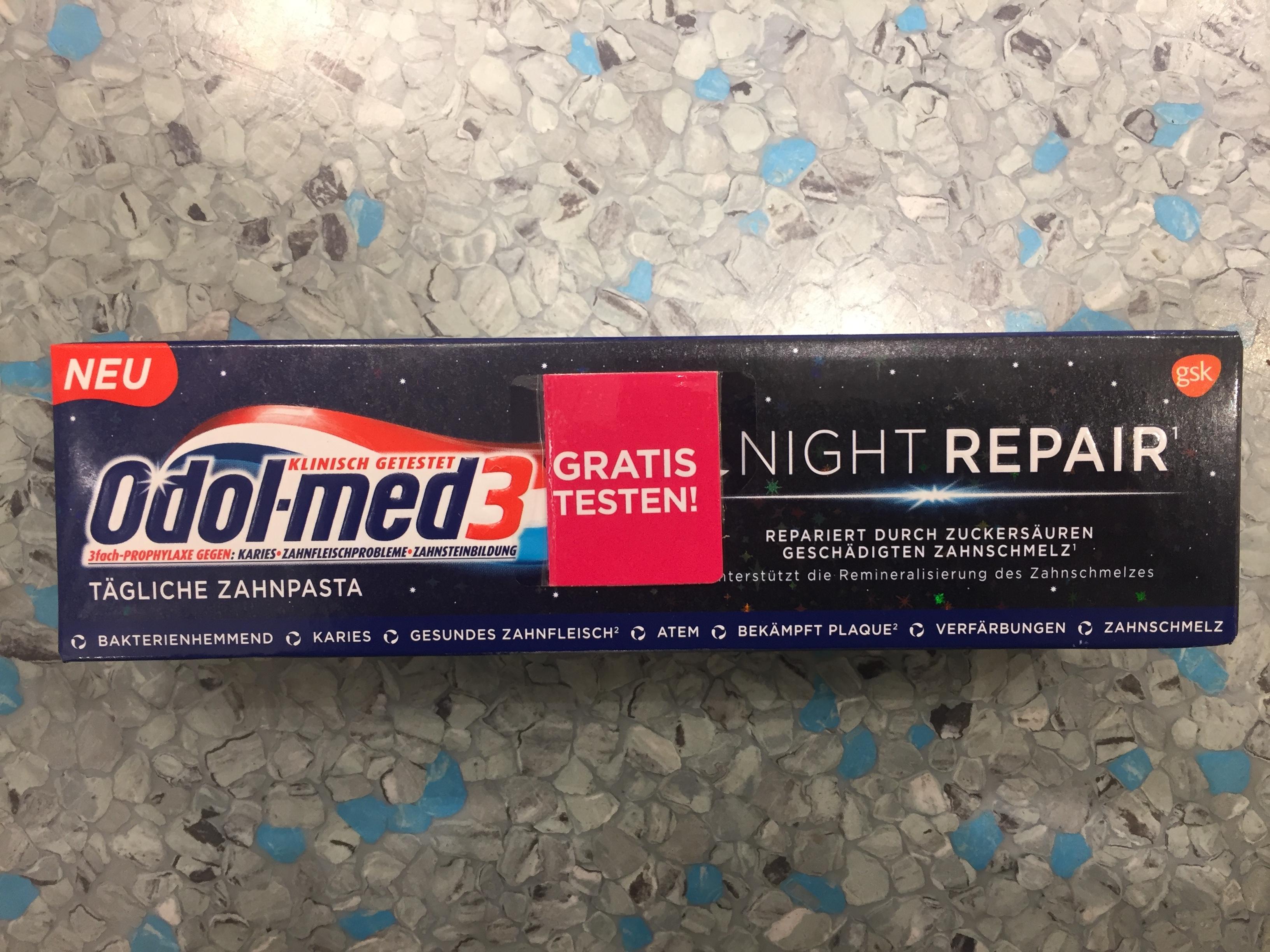 GzG Odol-med3 Night Repair Zahnpasta gratis (Aktionssticker notwendig) statt €1,95