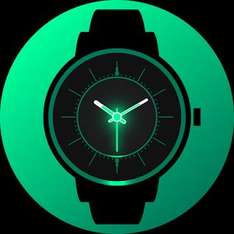 [Android] Analog Glow Watch Face *Skins, für 0€ statt 3,19€