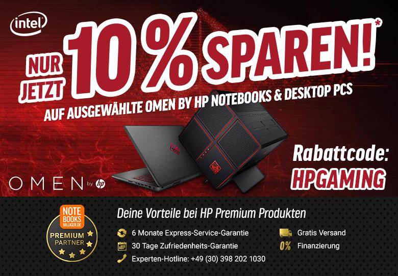 Notebooksbilliger.de Angebot: HP OMEN 17,3 Zoll  Full-HD IPS Gaming Notebook Intel Core i7-7700HQ, 16 GB RAM, 512 GB SSD, NVIDIA GeForce GTX 1070, G-Sync, Windows 10 Home 64 schwarz mit Carbon-Optik ---- (10% auf weitere HP Notebooks / Desktops )