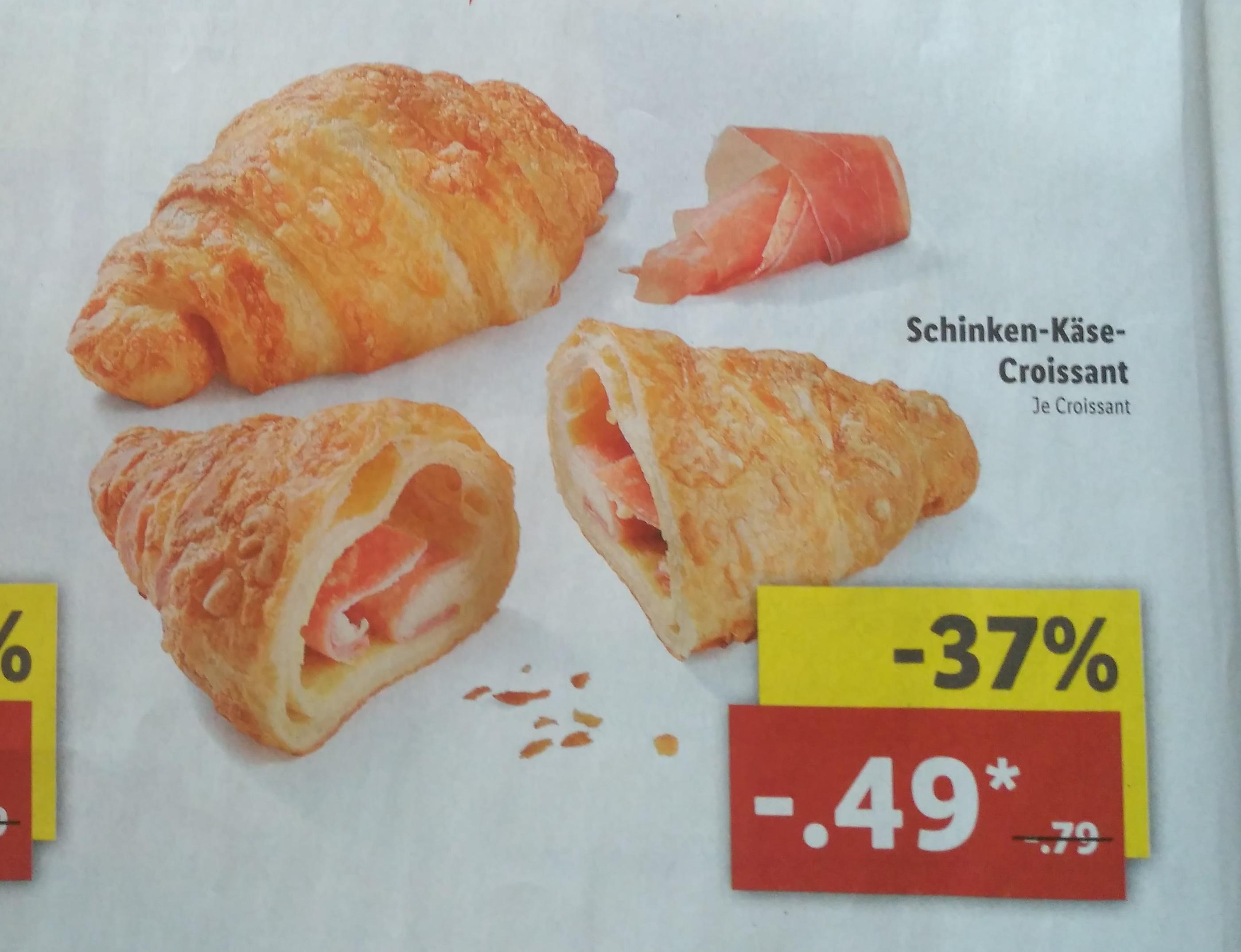 Schinken-Käse-Croissant für 49 statt 79 Cent + Gratis Kaffee [Wiedereröffnung Lidl Berlin-Treptow]