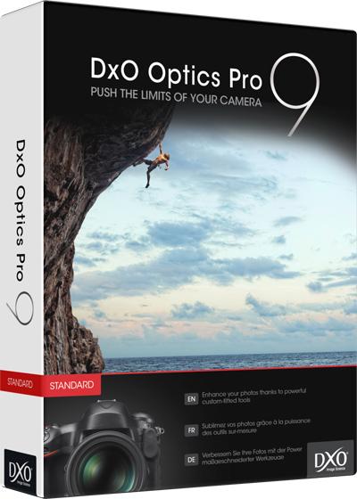DxO OpticsPro 9 Elite Bildbearbeitungstool gratis für Windows und Mac