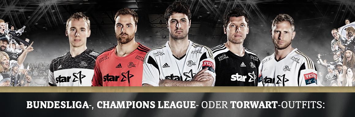 Champions League Trikot + Shorts vom THW Kiel stark reduziert (XL und aufwärts)