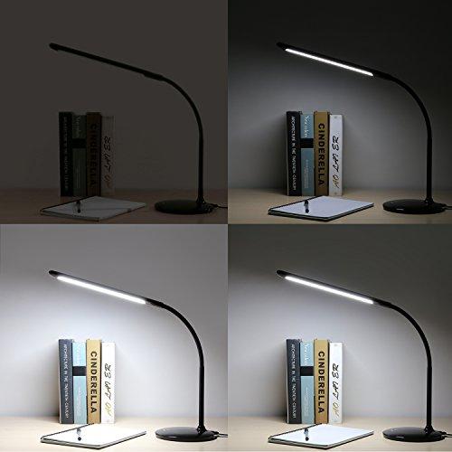 Amazon Prime - 13,99€ statt 37,99€ - Aukey LT-ST1 Schreibtischlampe LED Modern Dimmbar, 6W schwarz - lesen hilft..