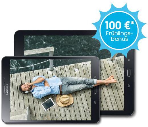 100 € Cashback auf das Samsung Galaxy Tab S2 ab dem 03.05.