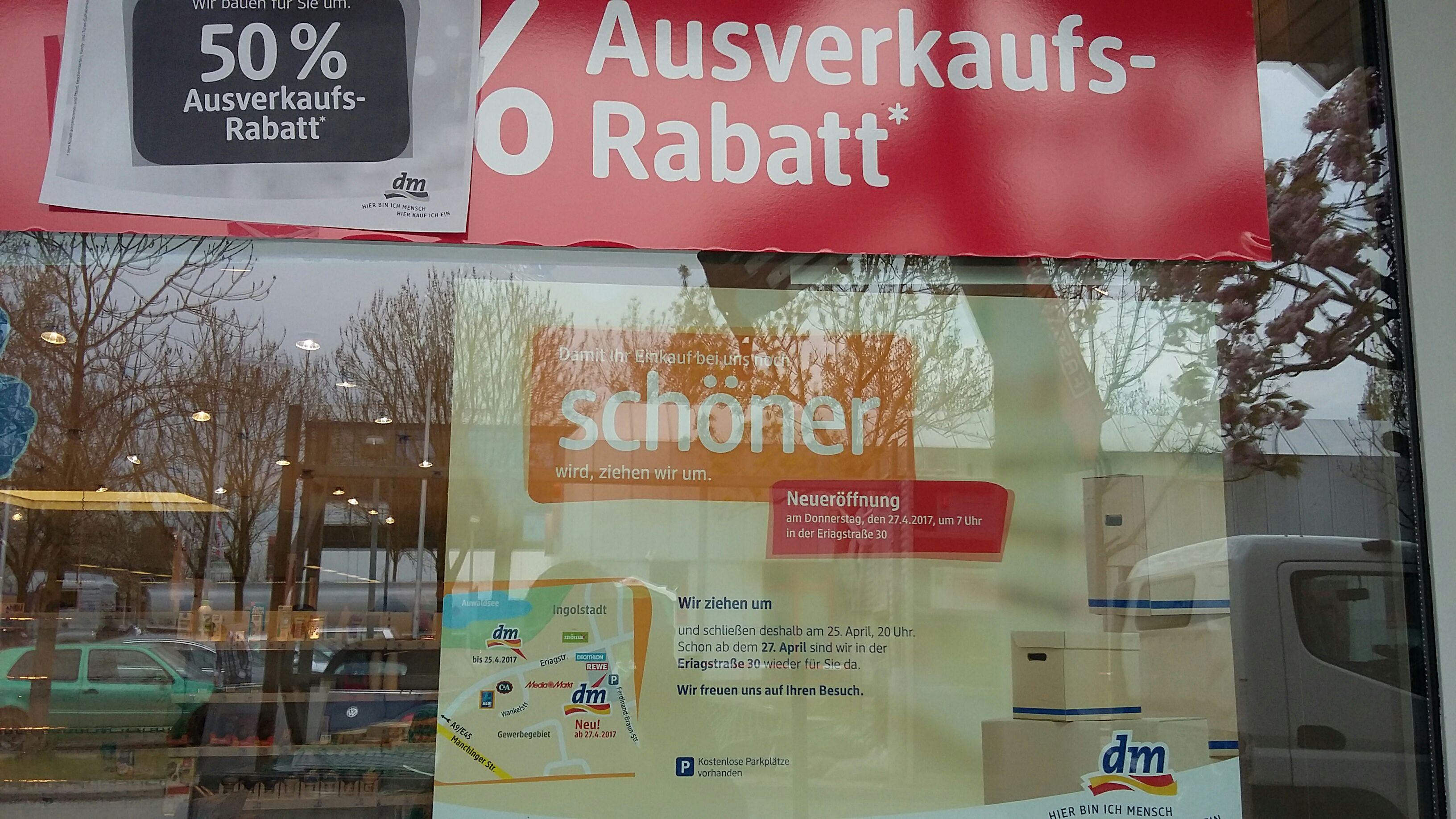 50 % auf Alles bei DM Ingolstadt
