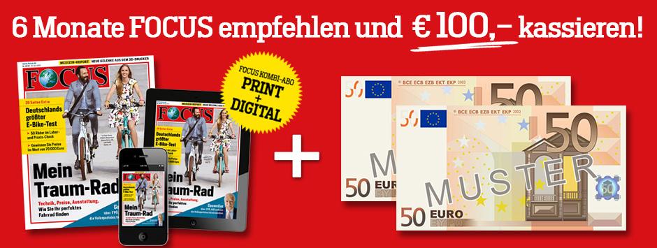 Focus Halbjahresabo + Focusdigital für effektiv 20,90 €