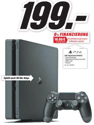 [Lokal Mediamakt Elmshorn und Göttingen] Sony Playstation 4 Slim mit 500GB für 199,-€