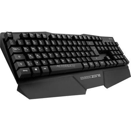 ZackZack Angebot: Sharkoon SHARK ZONE K15 Gaming Tastatur, Metallgehäuse, Anti-Ghosting (N-Key-Rollover), Gaming-Modus, integrierte Handballenablage