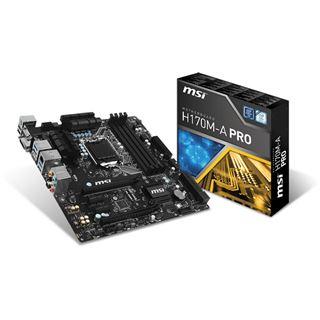 Mindfactory Angebot: MSI H170M-A PRO Intel H170 So.1151 Dual Channel DDR4 mATX Retail