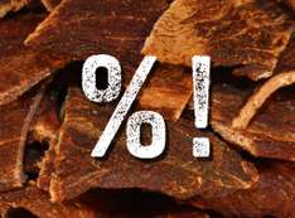 BEEF JERKY -15% // RIND & PUTE // WILD SPARTAN