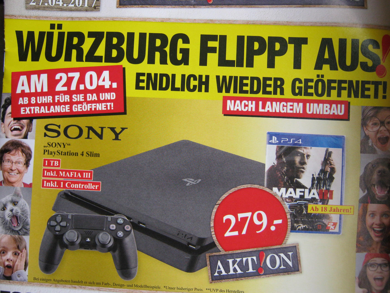 [Woolworth Würzburg]: PS4 Slim1 TB inkl. 1 Controller und Mafia III