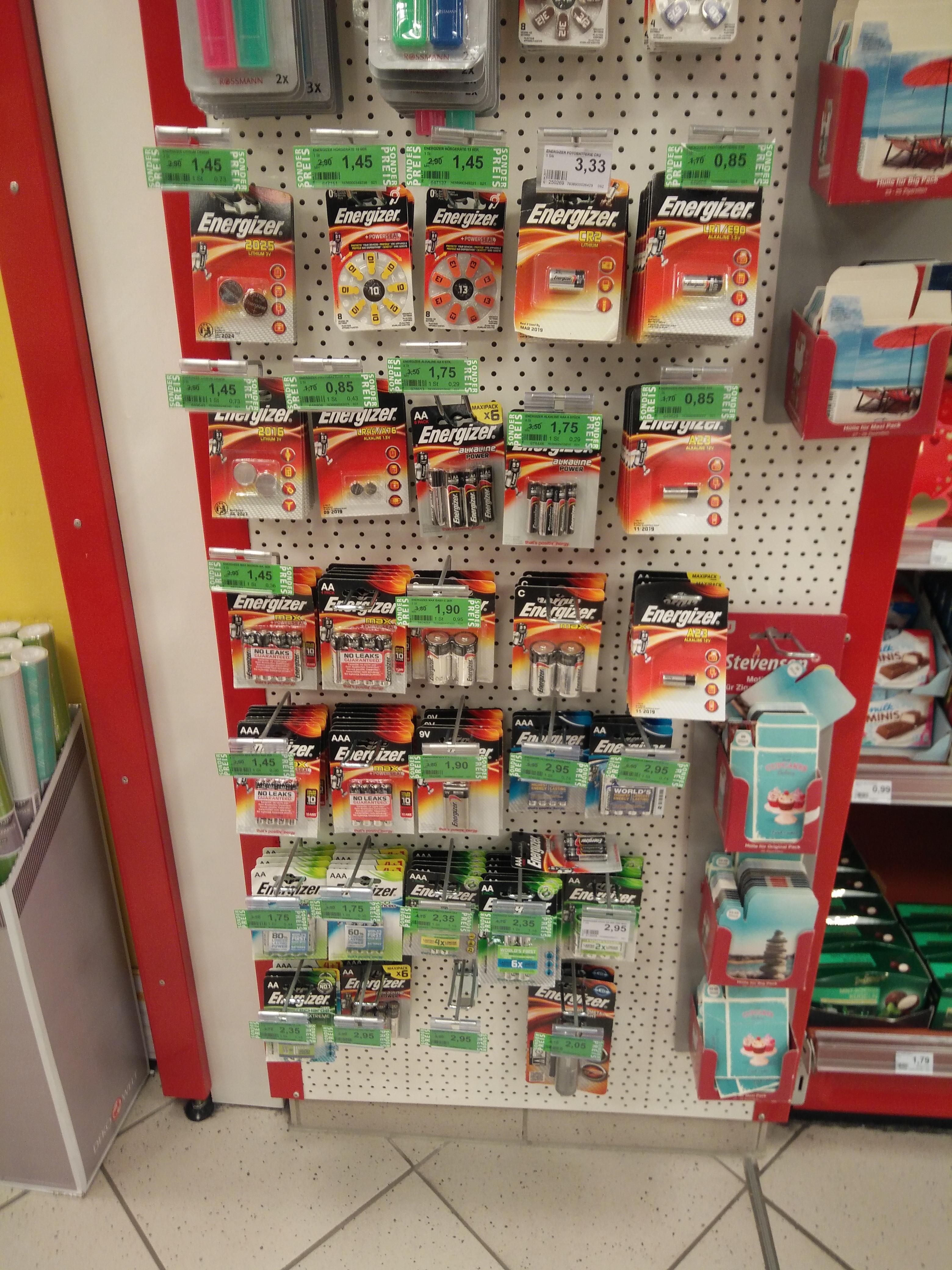 Energizer Batterien und Akkus - Rossmann Green Label