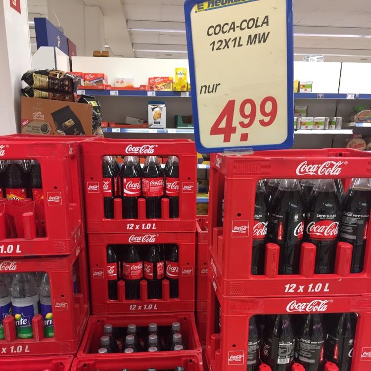 LOKAL: Edeka (Donauwörth) Kiste Cola 12x1L 4,99 + Pfand