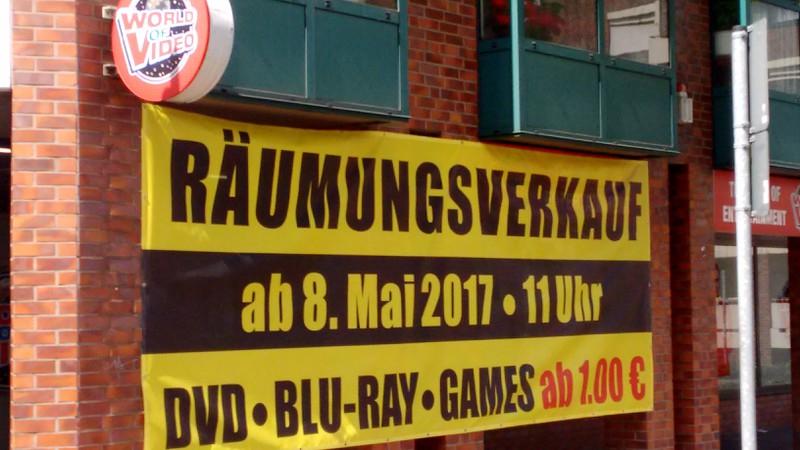 [LOKAL] World of Video Mönchengladbach 08.Mai 2017 Räumungsverkauf DVD • BLU-RAY • GAMES ab 1,00€