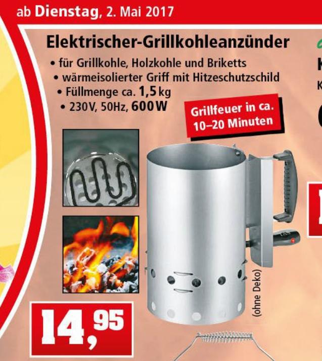 Elektr. Grillkohleanzünder für sauberen und schnellen Grillgenuss bei thomas-philipps 14,95€
