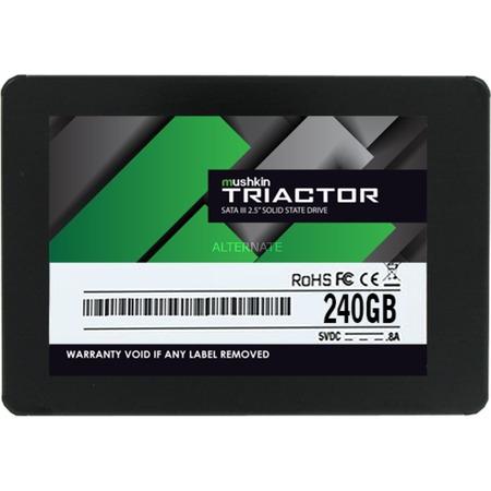 ZackZack Angebot: Mushkin SSD TRIACTOR 240GB,SATA 600, 2,5 Zoll, Lesen: 560 MB/s, Schreiben: 515 MB/s