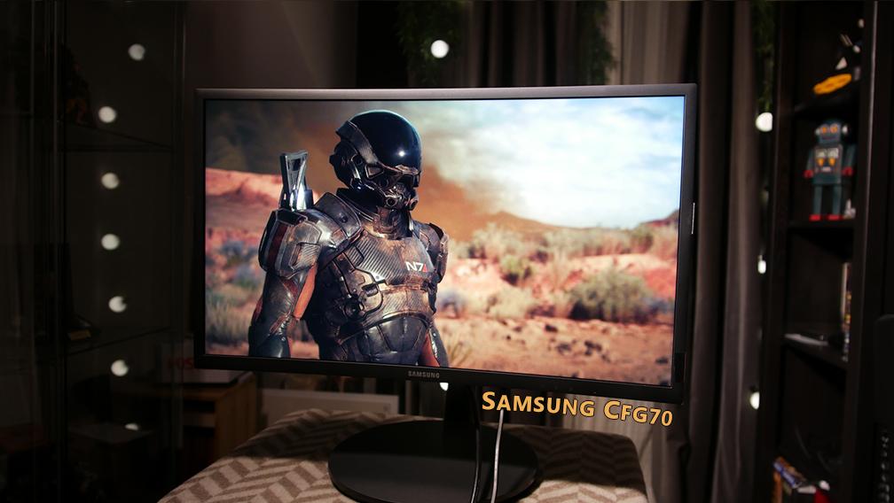 """Samsung CFG70 24"""" Full HD 144Hz Quantum Dot Monitor mit Freesync Im Angebot für 289,00 €"""