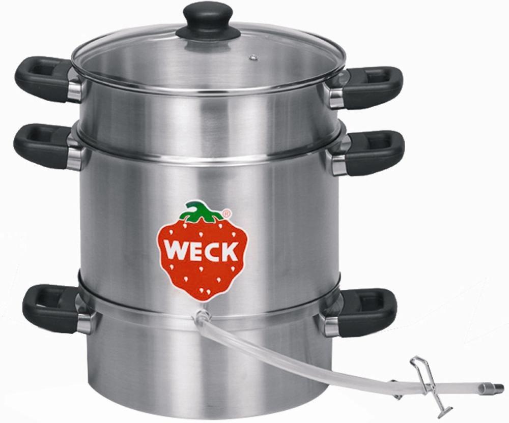 [Amazon] Weck WSG 28E Elektro-Entsafter / Einkochgeräte, 1500 Watt, 26 cm, mit Schlauchgarn / 31% unter PVG