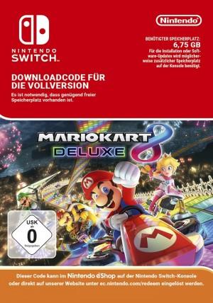 Mario Kart 8 Deluxe für Nintendo Switch als Digitaldownload bei Gamesrocket