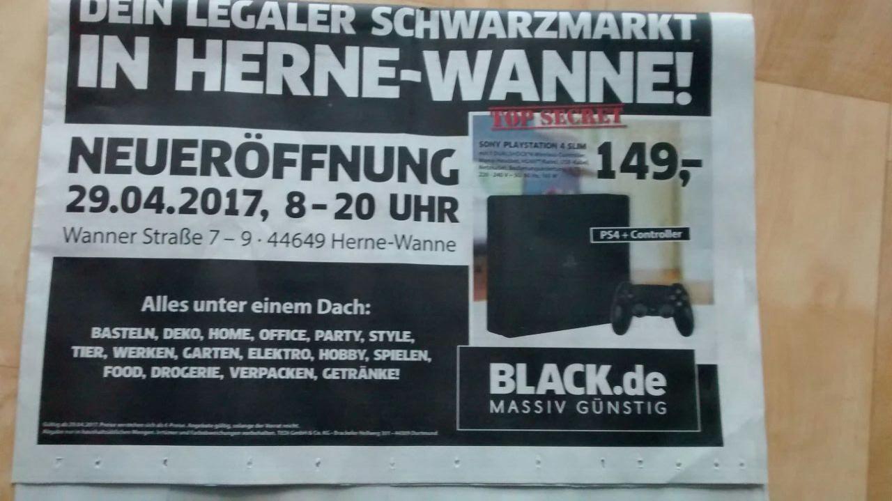 [Lokal Herne-Wanne Neueröffnung BLACK.de] PlayStation 4 Slim 1TB