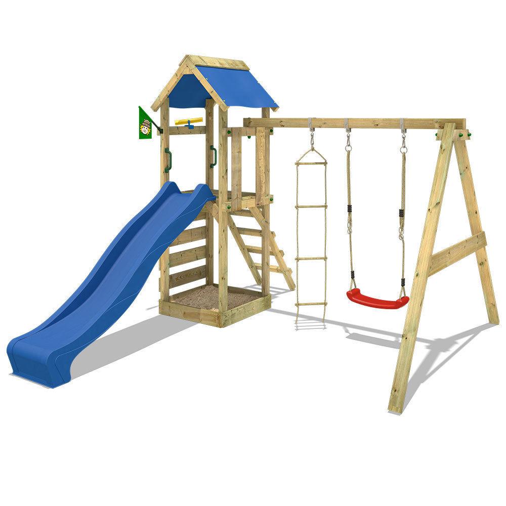 WICKEY FreeFlyer Spielturm Kletterturm Schaukel Klettergerüst Sandkasten Rutsche @ebay 249,95€