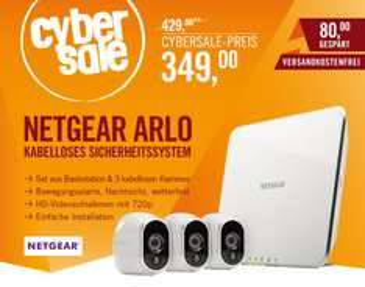 Netgear Arlo VMS3330 Sicherheitssystem mit 3 Kameras