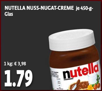 Nutella 450/500gr für 1,79 unter den Tengelmann Wochenangeboten