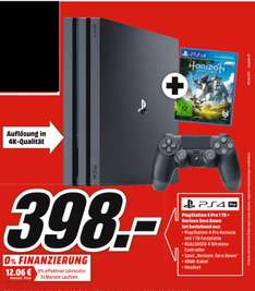 [Mediamarkt] PlayStation 4 (PS4) Pro 1TB + Horizon Zero Dawn für 398,-€**Update.Angebot Online**