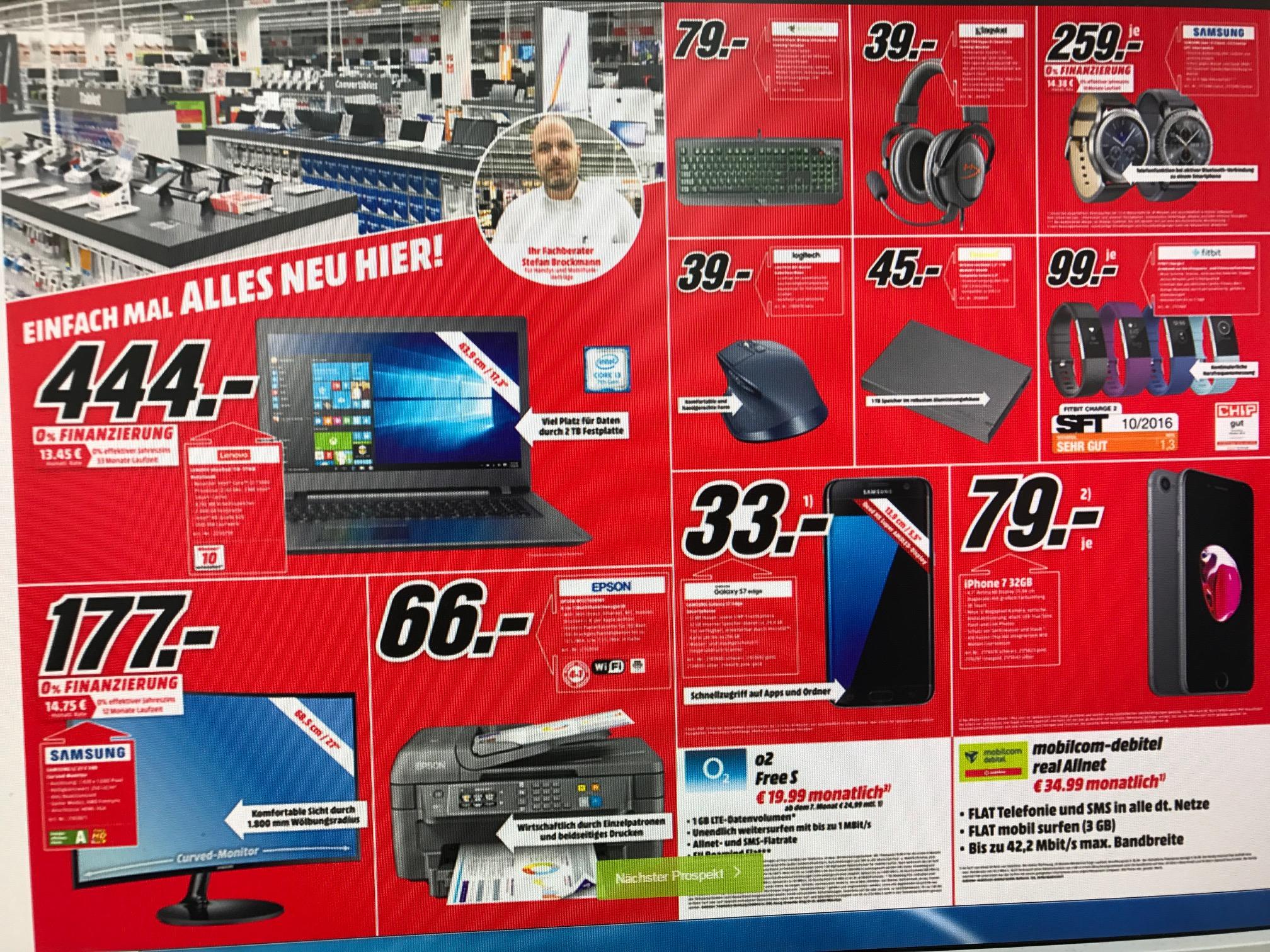 (Lokal Bremen) Sammeldeal MX Master 39,- FitBit Charge 2 99,- HyperX Cloud Core 39,- Samsung Gear S3 259,-
