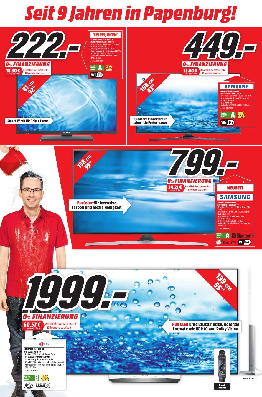 [MM Papenburg] TELEFUNKEN D32F289R4CW LED TV (Flat, 32 Zoll, Full-HD, SMART TV)