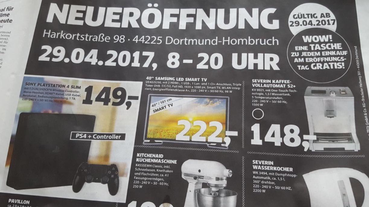 Sammeldeal Lokal Dortmund - PS4 Slim 1TB - am 29.04. Black Neueröffnung weitere top Angebote
