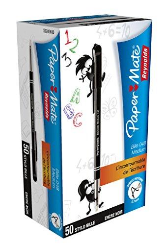 Amazon prime: Paper Mate 048 Kugelschreiber 50-er Kunststoffbeutel, schwarz