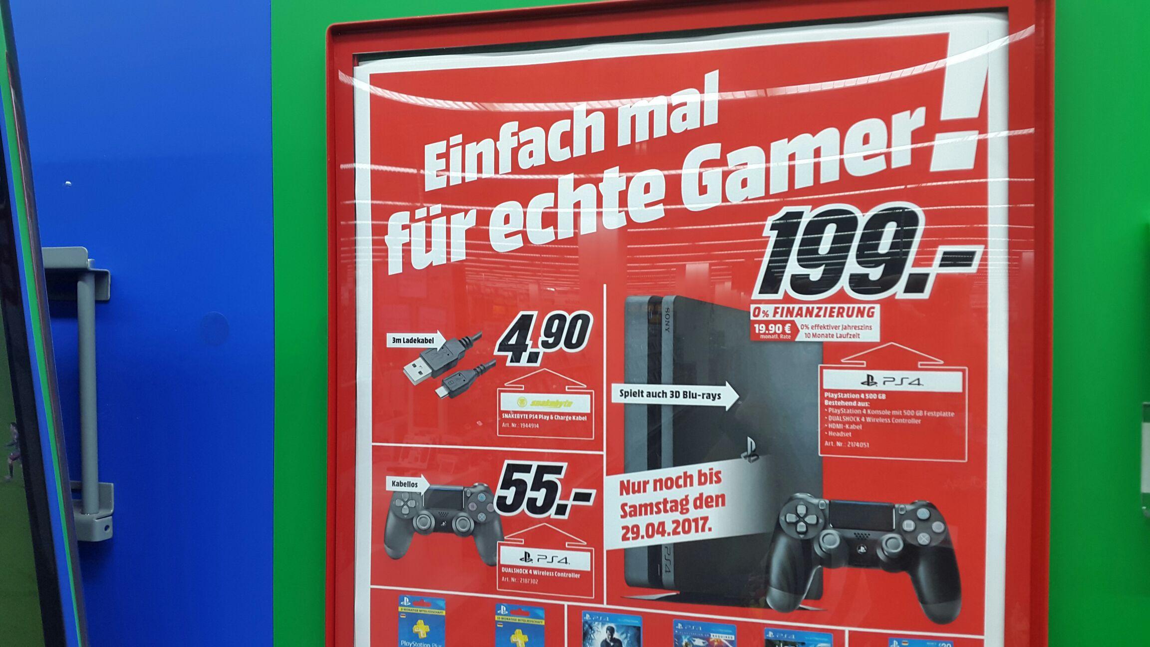 [LOKAL Media Markt Jena] PS4 Slim 500GB für 199€