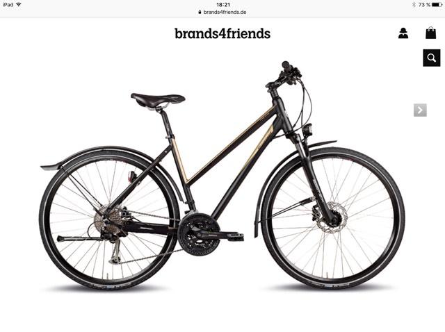 Steppenwolf Trekkingrad / Crossbike Toari 3.5 EQ Damen & Herren (Brands4Friends) für 406,98€