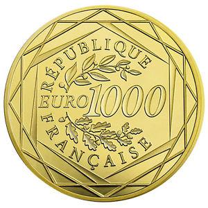 [EBAY] 1000€ 20gr Goldmünze Gallischer Hahn 2016 Frankreich für 1000€ Tauschaktion