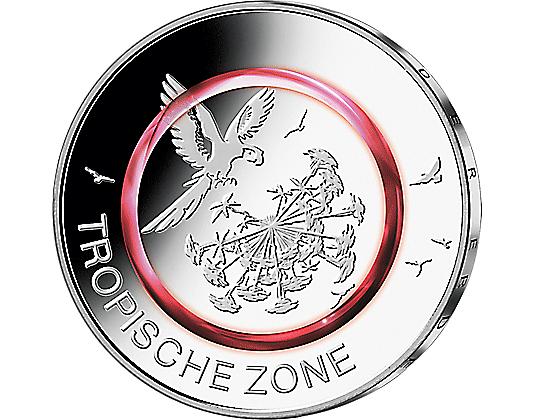 5-Euro-Münze tropische Zone zum halben Marktpreis