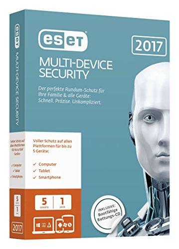 ESET Multi-Device Security 2017 Edition [5 Geräte - 1 Jahr - Vollversion, Software-Download] -- 50% günstiger statt 32,99€