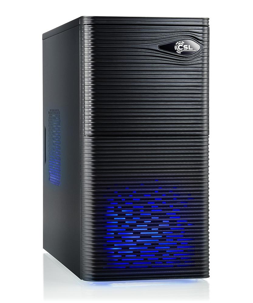 CSL 901 Desktop PC (AMD A8-7600 APU mit Radeon R7 iGPU, 4GB RAM, ASUS A68HM-PLUS, DVI + HDMI + Gb LAN, 250W FSP Fortron) für 164,90€ [CSL]