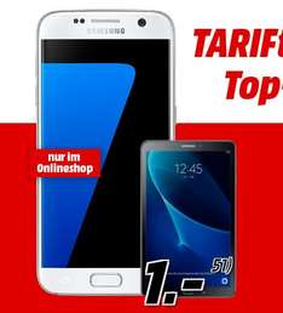 Samsung Galaxy S7 + Galaxy Tab A 10.1 WiFi  mit mobilcom-debitel Vodafone Flat Allnet Comfort Vertrag [MediaMarkt Online]