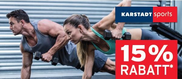 [Karstadt Sport - OFFLINE] Vorteilskarte für Karstadt Sport und ab sofort 15% Rabatt erhalten
