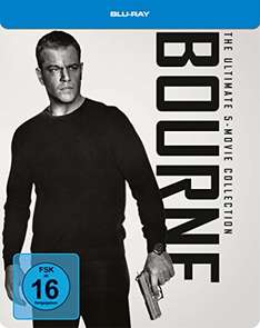 Jason Bourne 1-5 Steelbook Collection @ Amazon.de